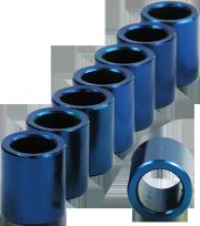 BSB 8mm Aluminium-Micro-Spacer Set - blau - 8 Stück