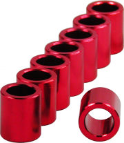 BSB 8mm Aluminium-Micro-Spacer Set - rot - 8 Stück